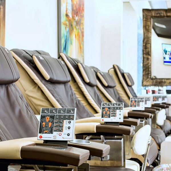 Massage/Pedicure Chair Close-Up at Treat Your Nails on Buford Hwy
