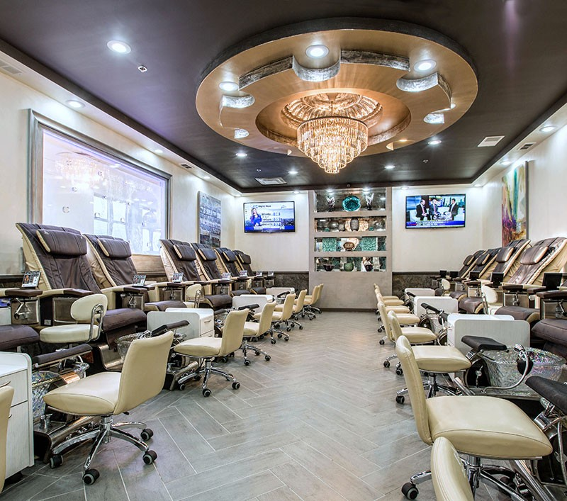 Pedicure Room at Treat Your Nails Salon on Buford Highway