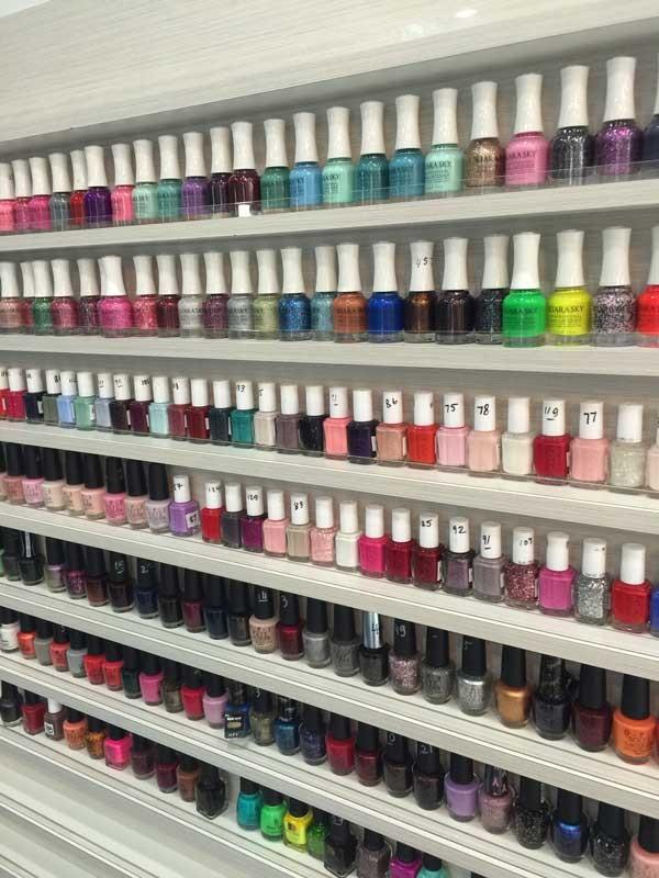 nail-polish-wall-closeup-atlanta-nail-salon - Treat Your Nails